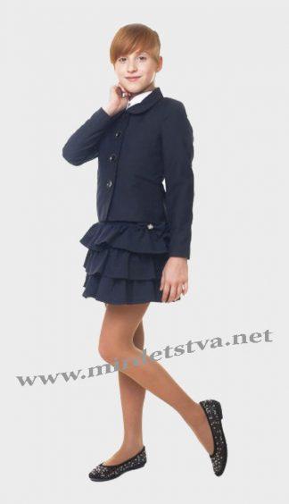 Жакет школьный для девочки KidsCouture 71715811121 темно-синий