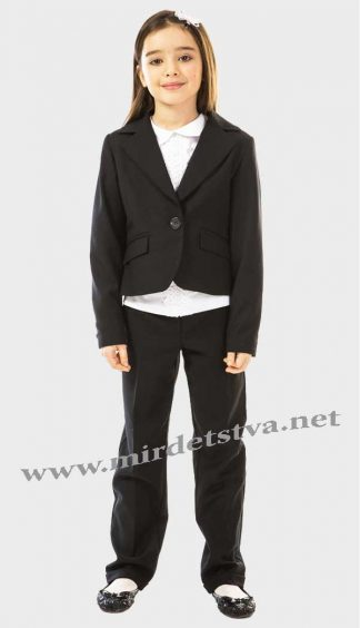 Жакет школьный для девочки KidsCouture 71715902119 черный