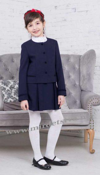 Жакет школьный для девочки Новая форма J-Fiona синяя