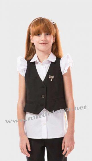 Жилет школьный для девочки KidsCouture 91032667 черный