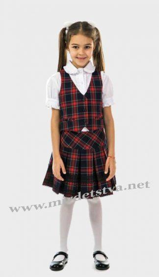 Жилет школьный для девочки KidsCouture 91032669 сине-красный