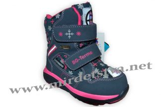 Зимние ботинки для девочки B&G термо BG187-54 сине-розовые