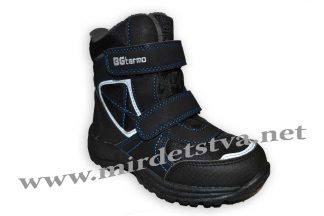 Зимние ботинки для мальчика B&G термо R181-6030B черные