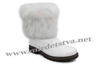 Зимние сапоги для девочки Tops КР-20-4 белые