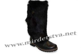 Зимние сапоги для девочки Tops КР-65-4 черные