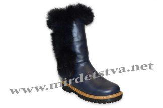 Зимние сапоги для девочки Tops ЗДК-9_н синие