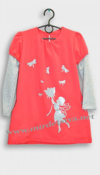 Платье-туника для девочки Musti 002 коралловое