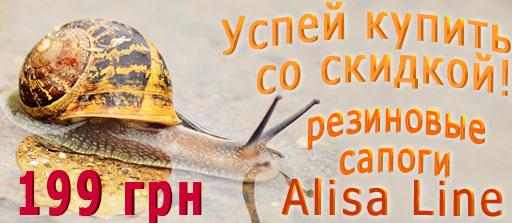 Скидка на резиновые сапоги AlisaLine